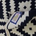 Tapis style scandinave bleu et blanc