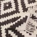 Tapis style scandinave gris et blanc
