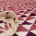 Tapis scandinave triangulaire rose et violet