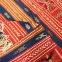 Tapis laine moderne rouge et noir