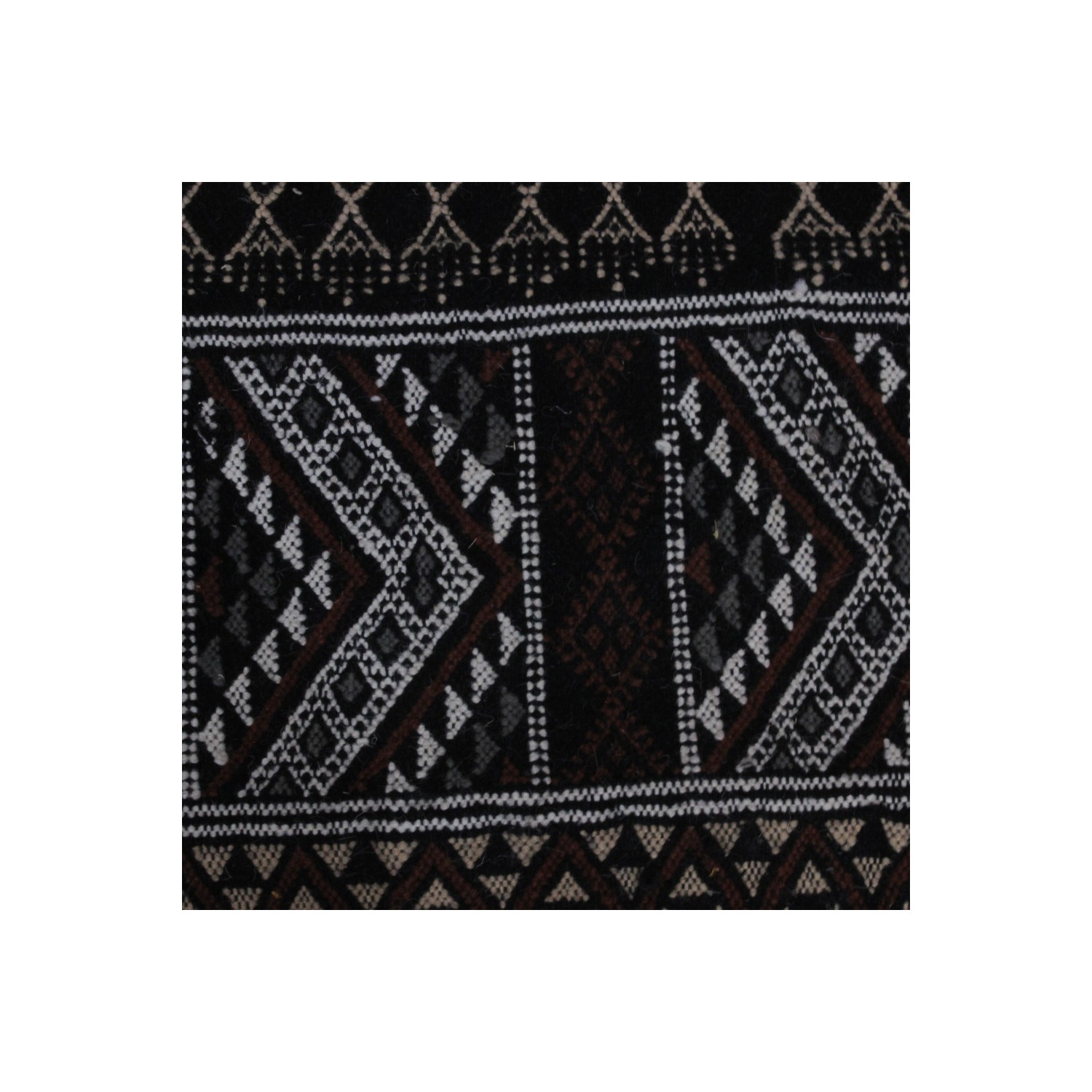Wool Black And White Carpet