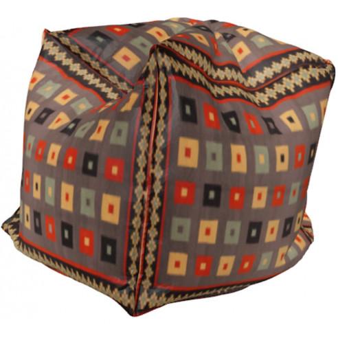 Pouf cube coloré