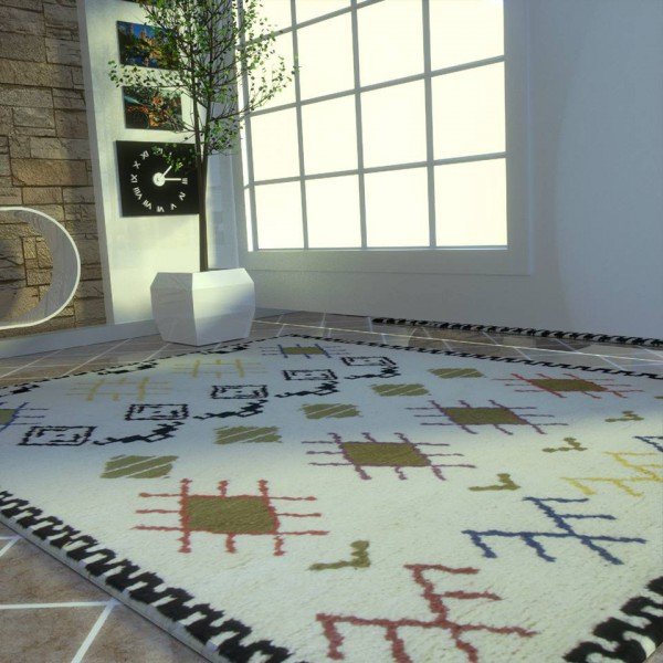 CARPET STYLE BERBER BLACK AND WHITE