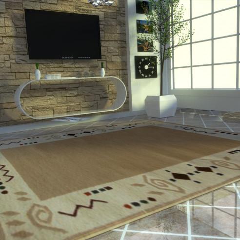 tapis berbère avec motifs