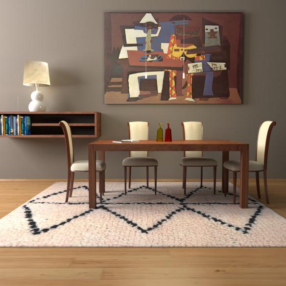Simple Berber Carpet with triangulair pattern
