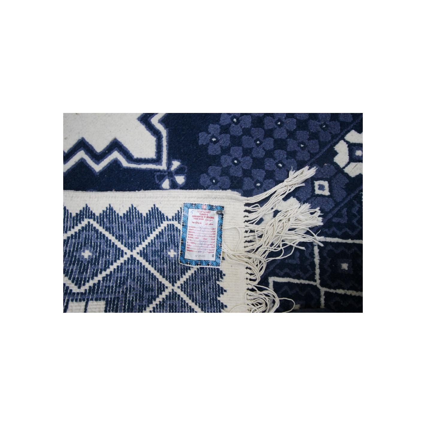 tapis salon bleu de haute qualit 100 artisanal. Black Bedroom Furniture Sets. Home Design Ideas