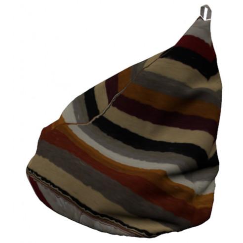 pouf poire en kilim rayé