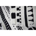 tapis kilim traditionnel noir et blanc