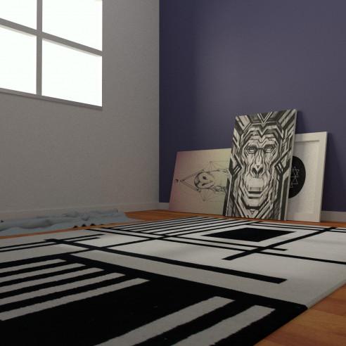 tapis kilim motif géométrique