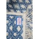 tapis Margoom traditionnel avec motif bleu