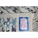 kilim style margoum motifs bleu ciel et bleu foncé