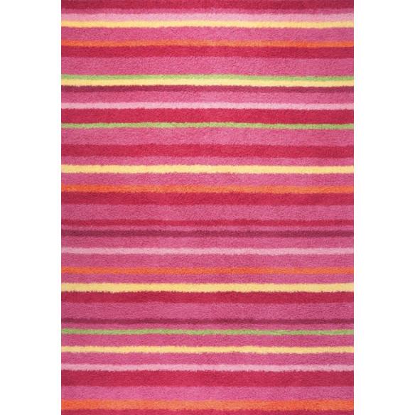Pink striped kilim carpet