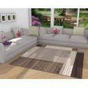 Tapis kilim moderne en marron blanc sale