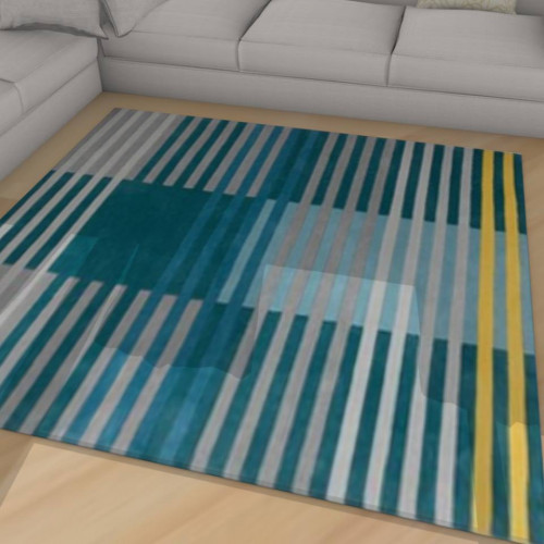 tapis kilim ray gris et bleu. Black Bedroom Furniture Sets. Home Design Ideas