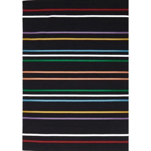 Tapis kilim rayé coloré