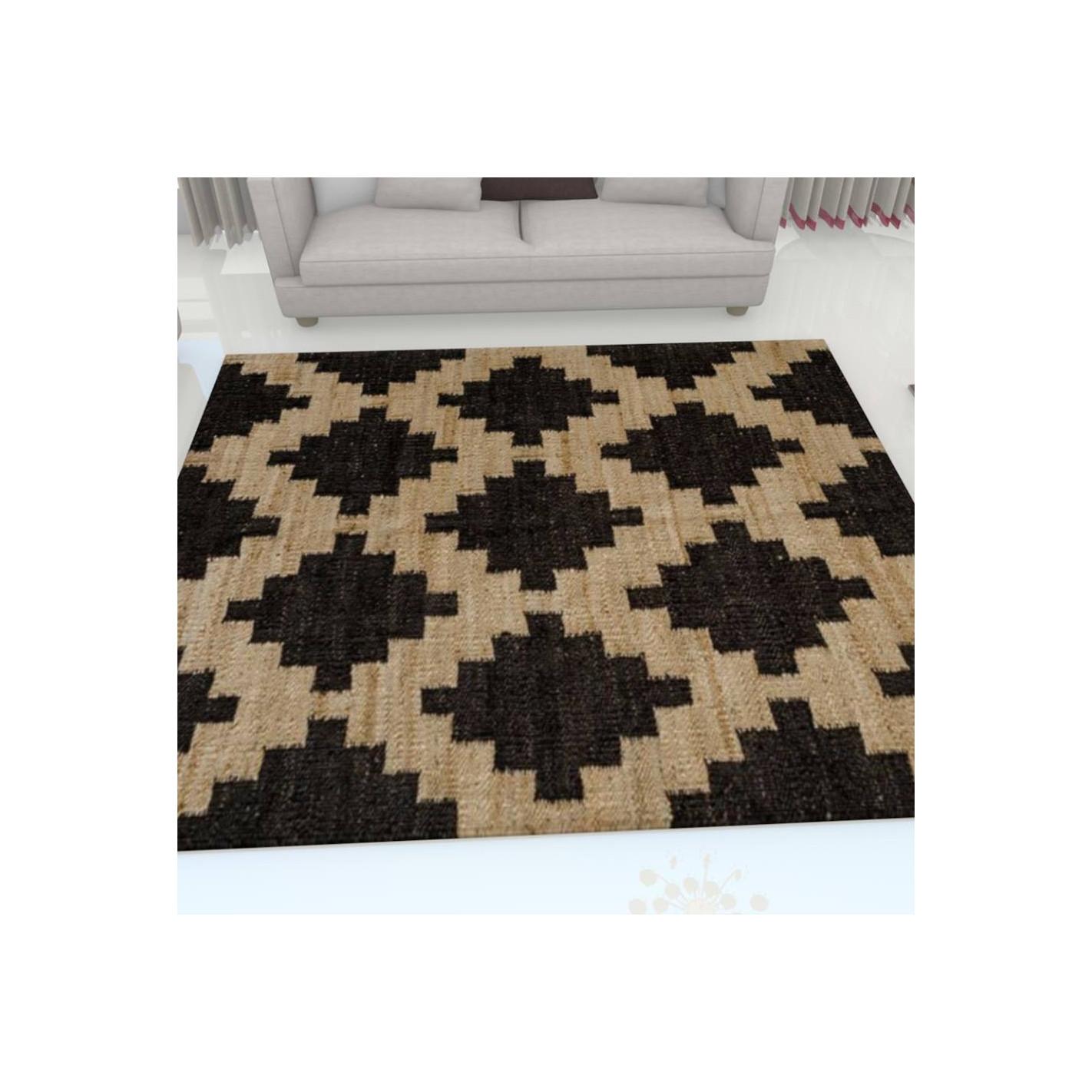 tapis kilim motifs beige margoom. Black Bedroom Furniture Sets. Home Design Ideas