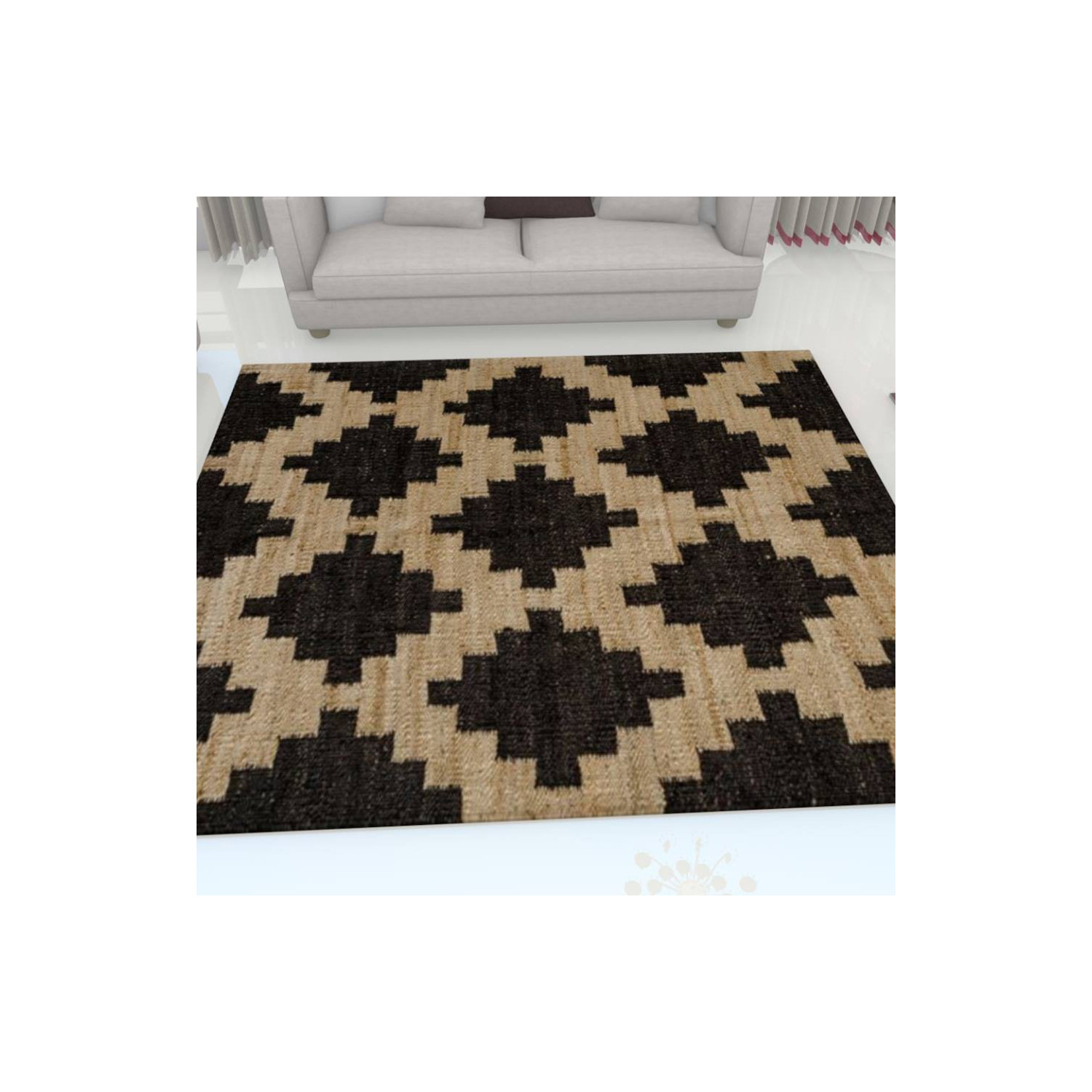 tapis kilim motifs beige - Tapis Kilim