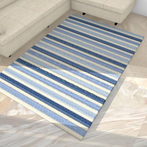 tapis kilim moderne tapis moderne kilim moderne 204x150. Black Bedroom Furniture Sets. Home Design Ideas