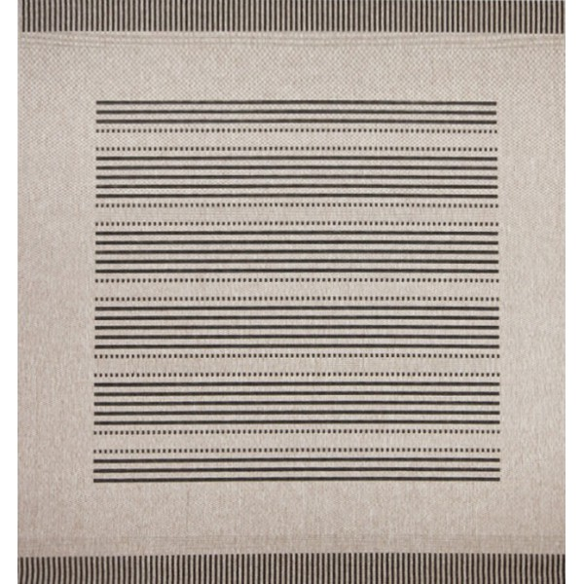Chic gray striped kilim rug