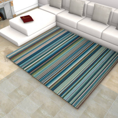 tapis kilim ray nuance bleu margoom. Black Bedroom Furniture Sets. Home Design Ideas