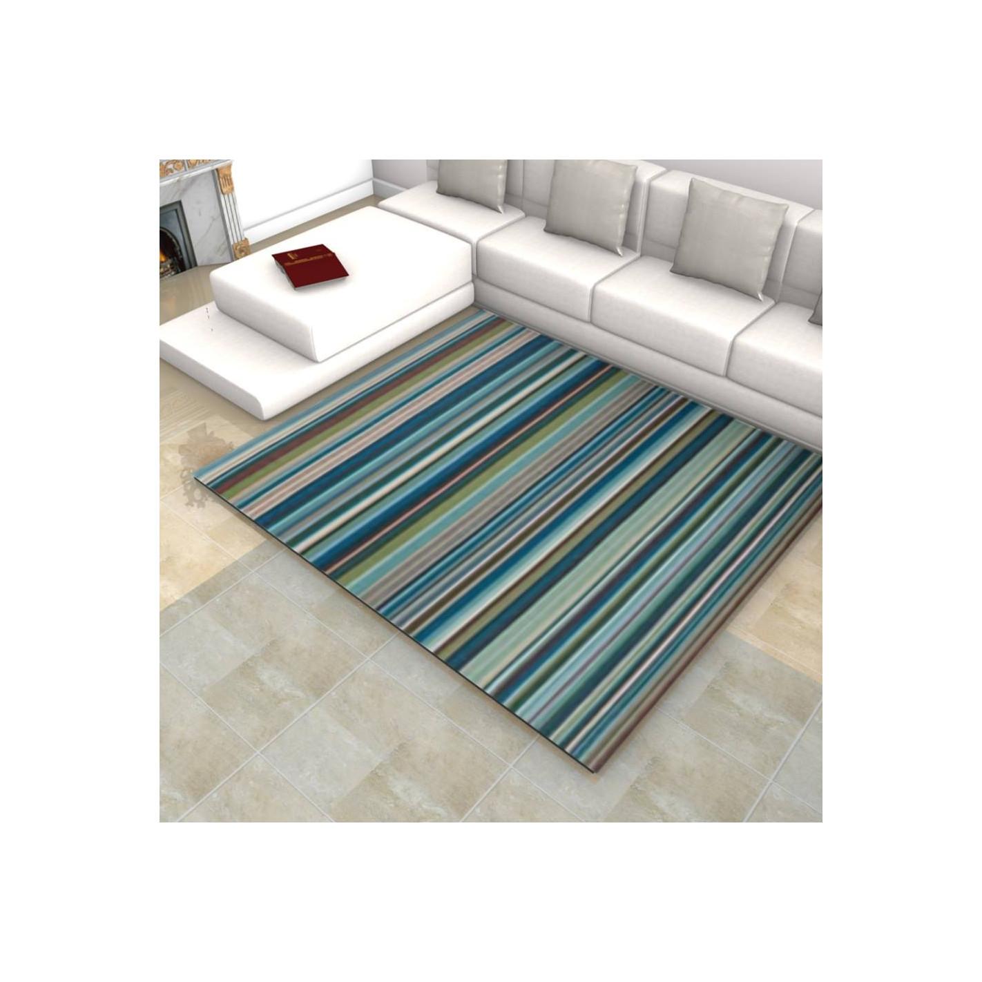 tapis kilim ray nuance bleu margoom. Black Bedroom Furniture Sets. Home Design Ideas