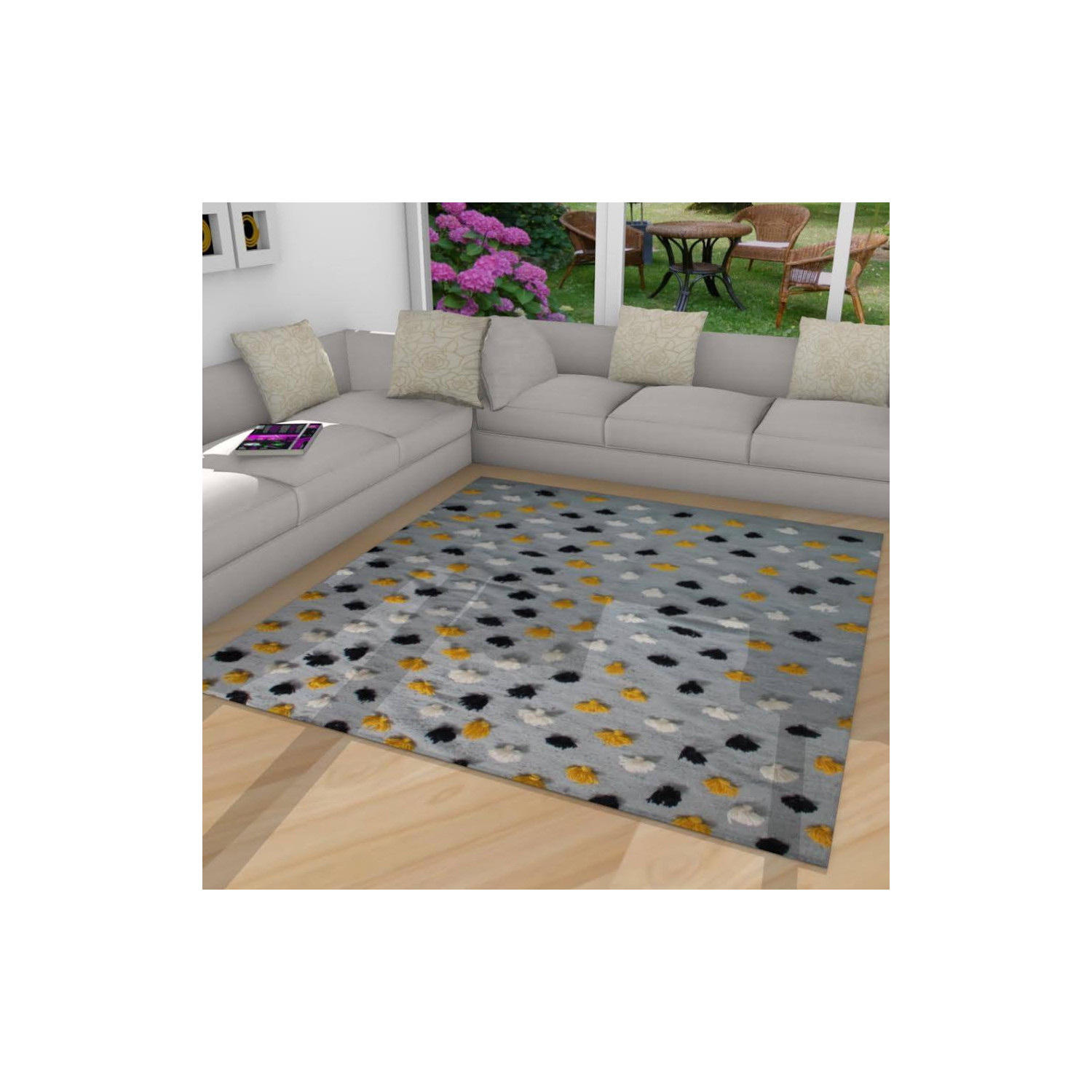 tapis gris violet tapis reflective marque arte espina sur. Black Bedroom Furniture Sets. Home Design Ideas