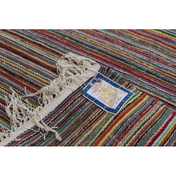 Tapis kilim rayé multicolore