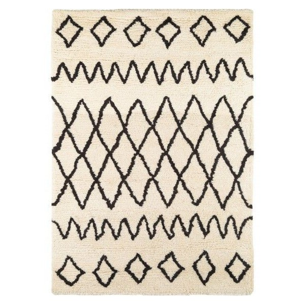 tapis berb re de salon beige et noir
