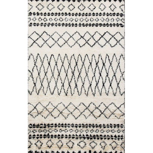 MODERN BERBER MAT BLACK AND WHITE