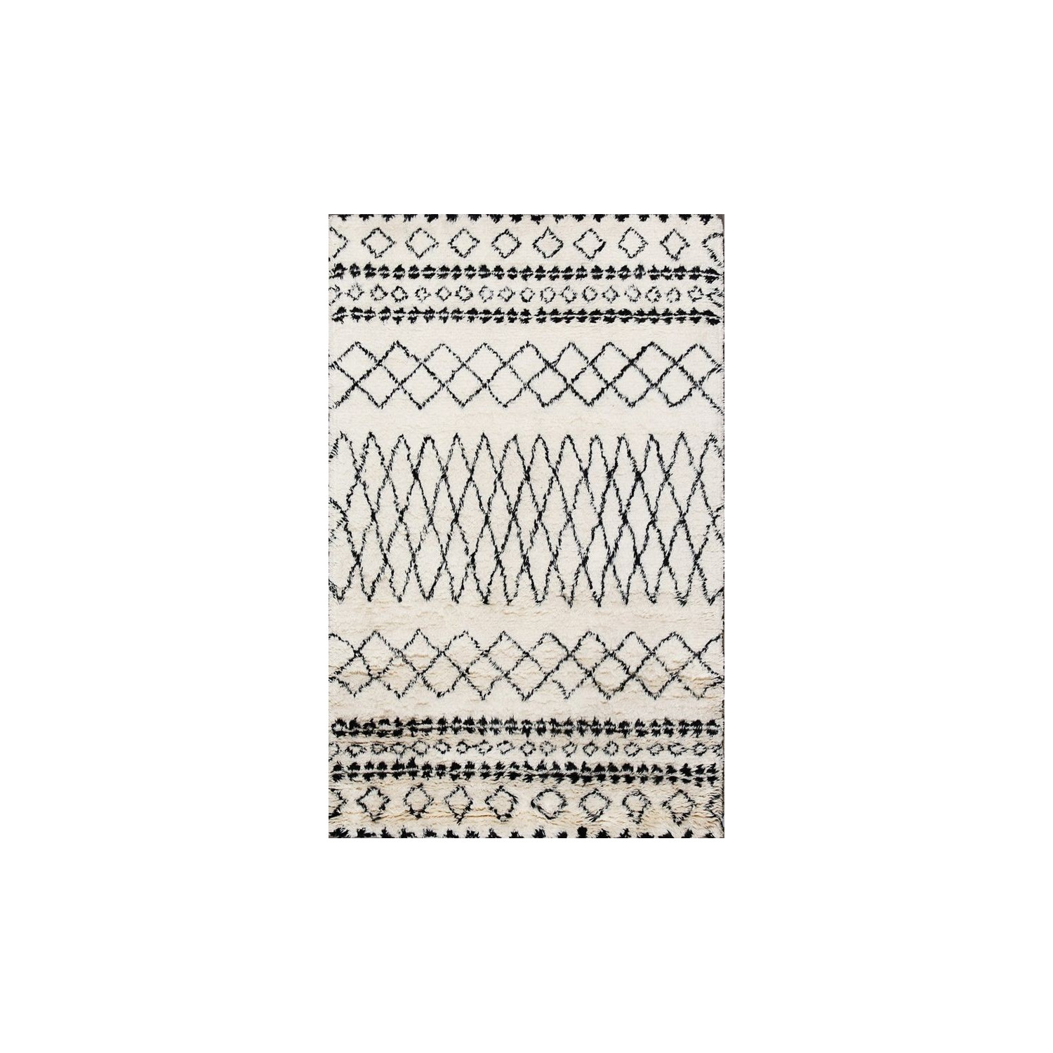 Modern berber mat black and white for Black and white berber carpet