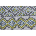Tapis Margoom traditionnel motif jaune et bleu